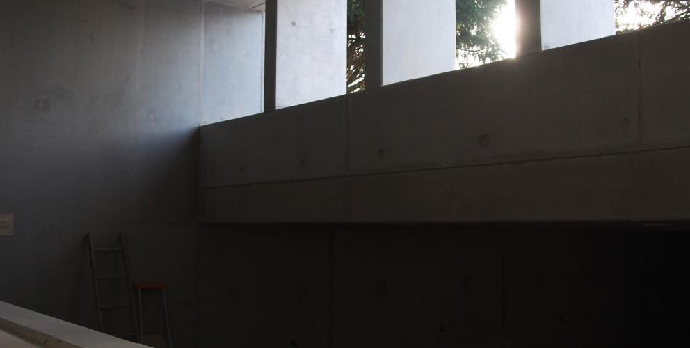 """Projet SL - En cours de construction - Contraste entre l'esprit """"bunker"""" et son ouverture sur l'extérieur"""