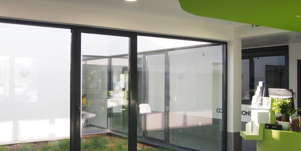 Projet CVV - Relations entre le patio et le hall d'accueil